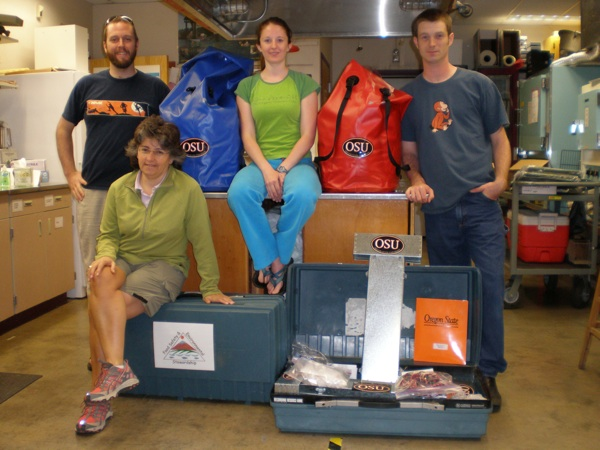 OSU SRP pre-deployment gear and researchers