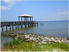 Alabama dock used for sampling air and water