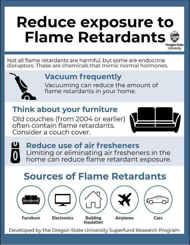 Infograph of Reducing exposure to flame retardants