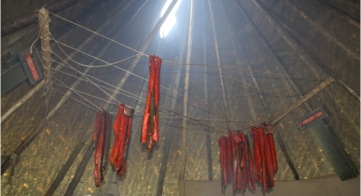 Smoked Salmon in Tipi at CTUIR